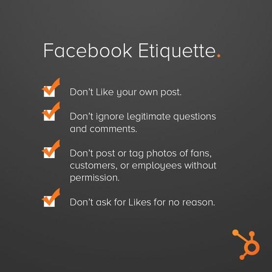 Facebook etiquette - Coen Koppen Communicatie
